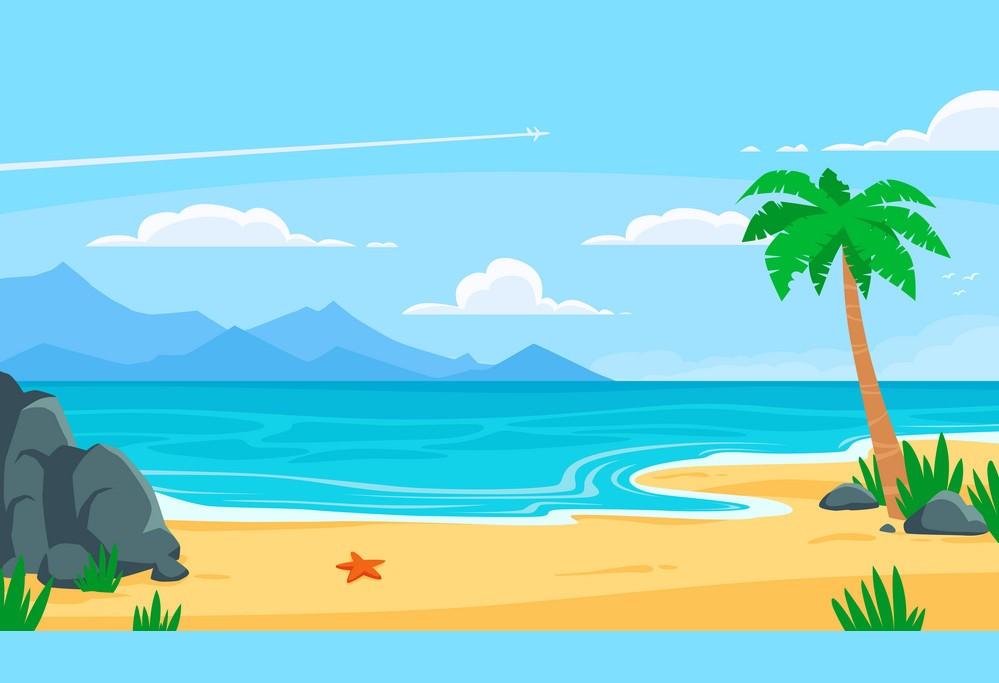 Ảnh background biển dễ thương