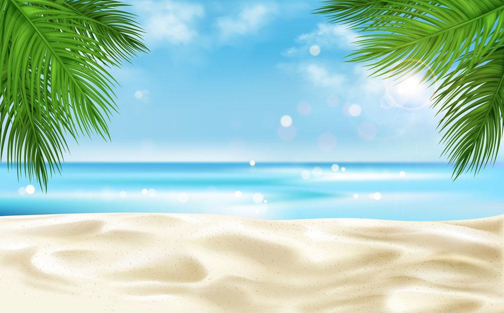 Ảnh background biển xanh cát trắng
