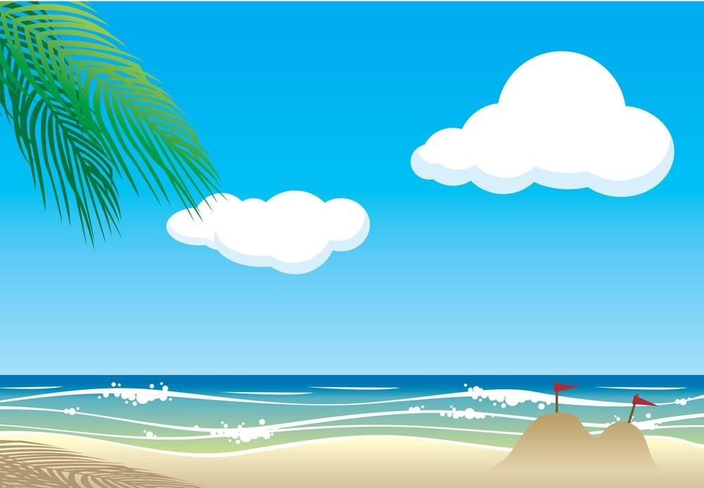 Background bãi biển