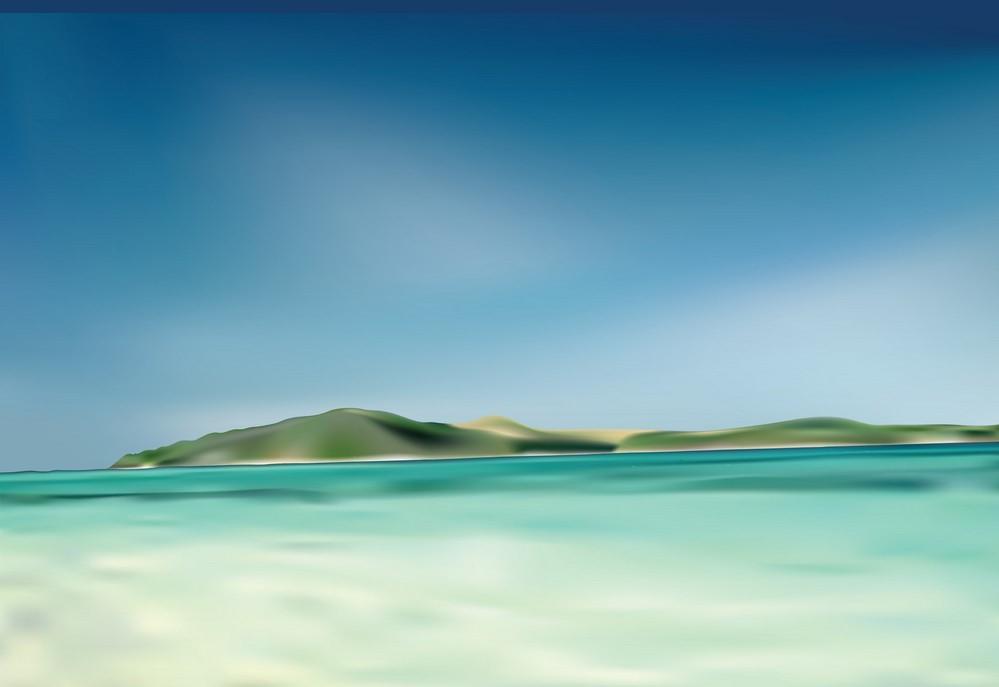 Background biển 3D