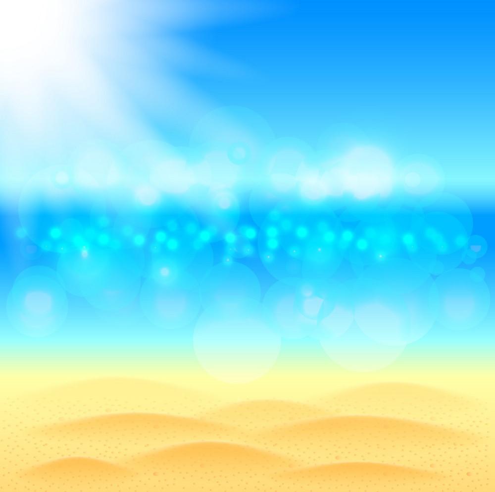 Background biển blur