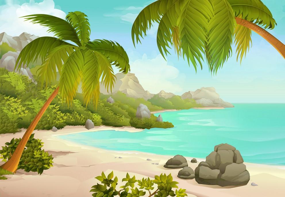 Background biển hoang sơ