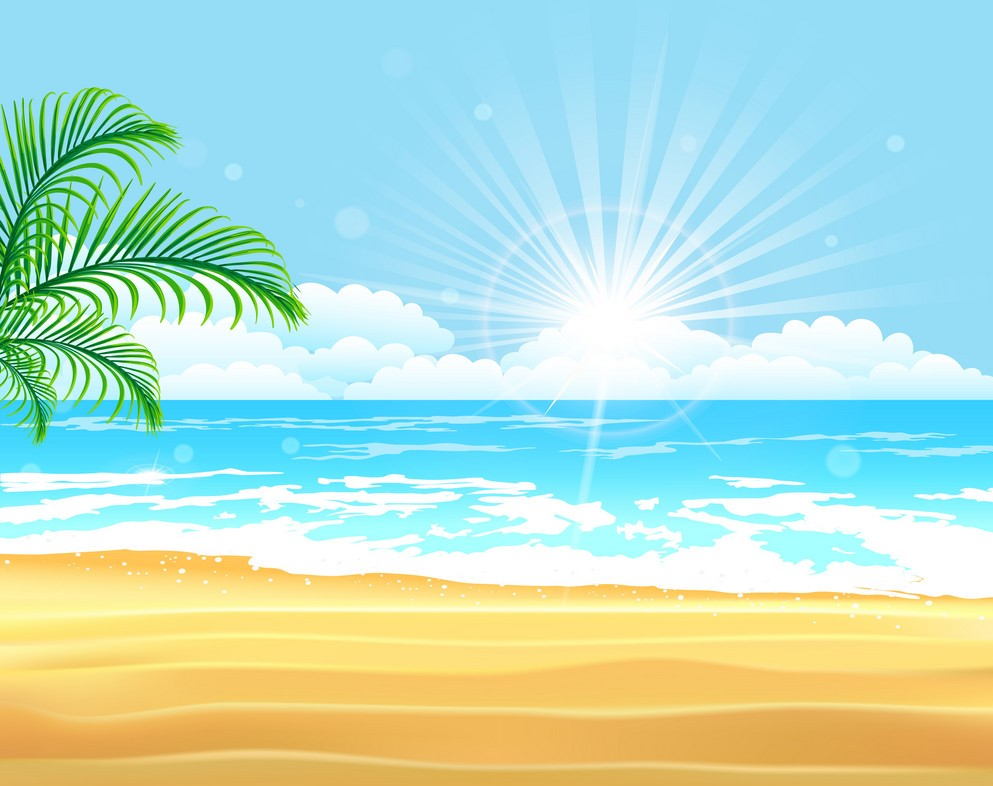 Background biển nắng sớm