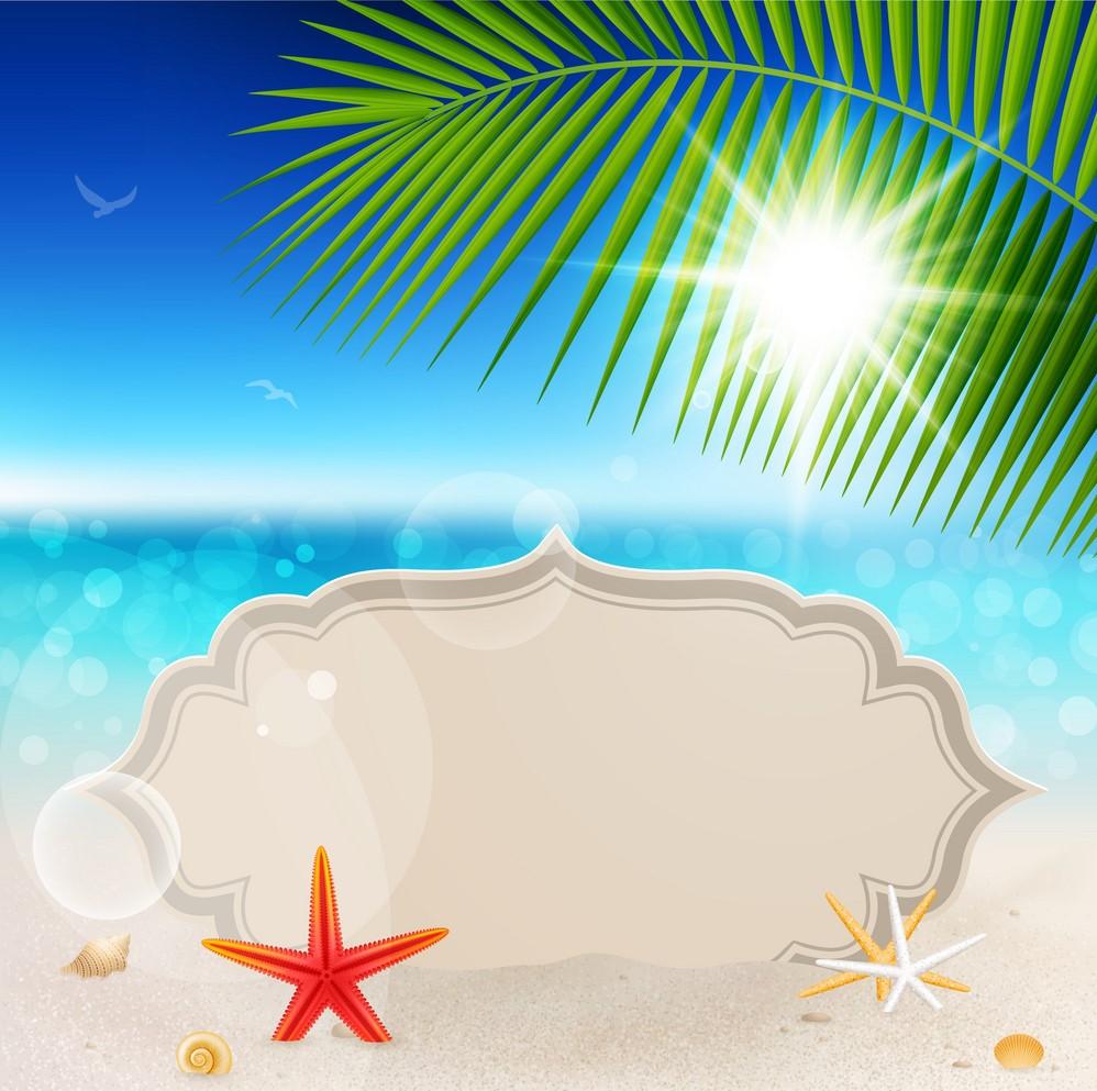 Background biển nắng