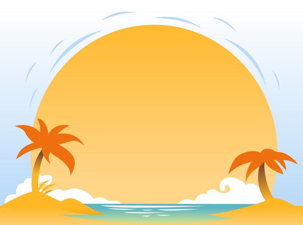 Background biển và mặt trời