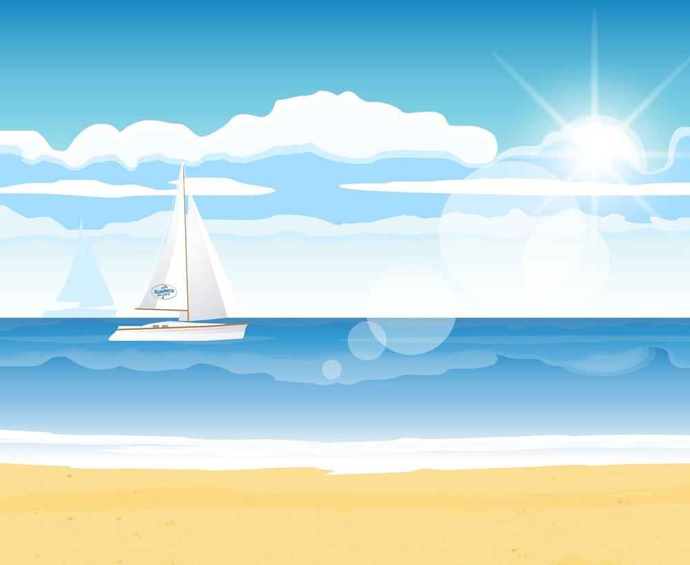 Background biển và thuyền