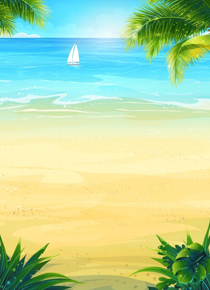 Background biển xanh cát trắng