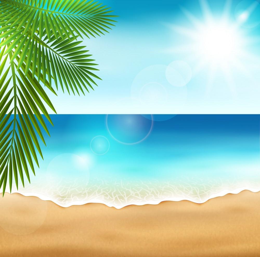 Background biển xanh nắng