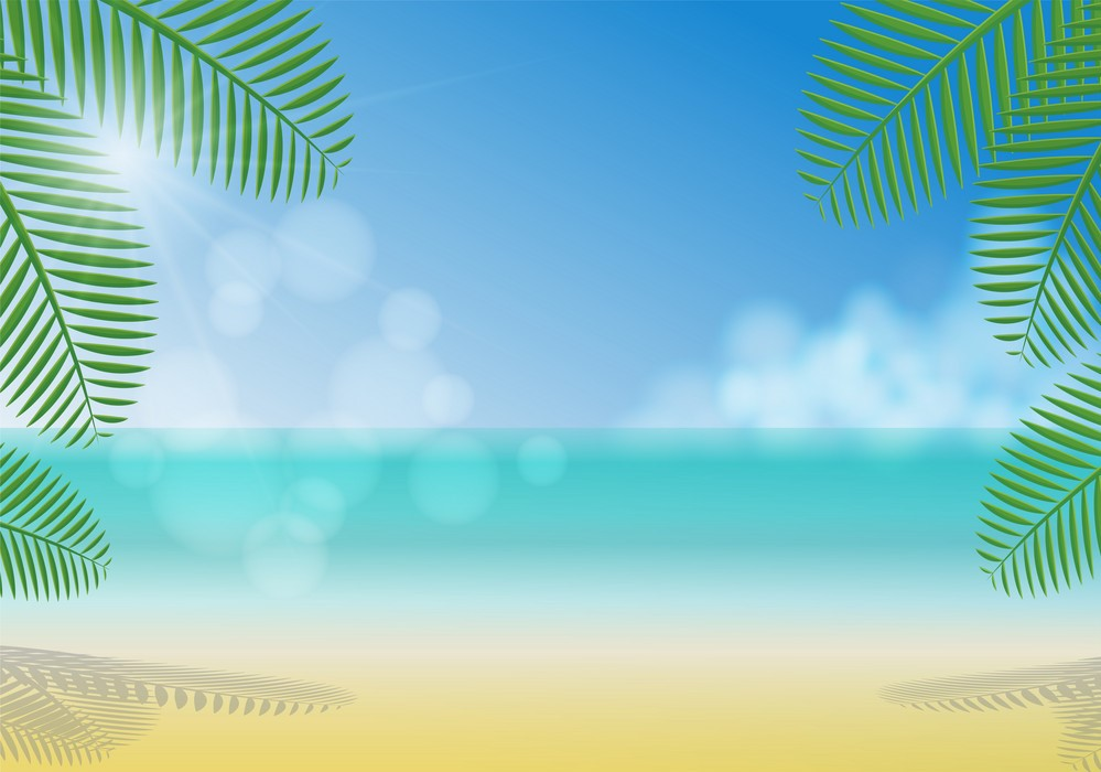 Background về biển và nắng