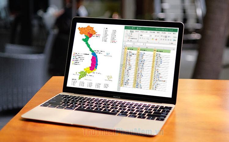 Danh sách tỉnh thành, quận huyện, phường xã Việt Nam (File Excel)