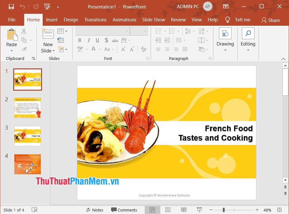 Hình ảnh slide ẩm thực