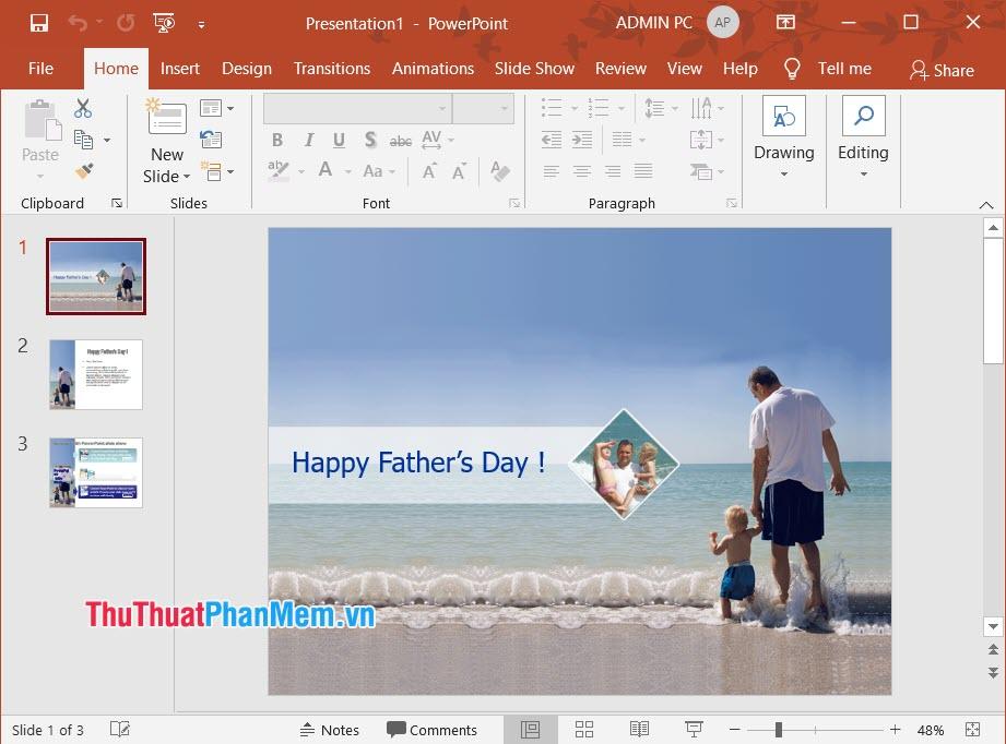 Hình ảnh slide Ngày của cha