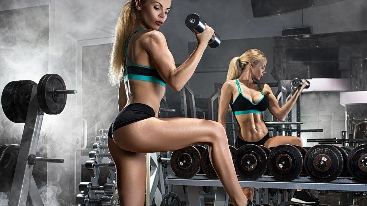 Ảnh girl xinh tập gym
