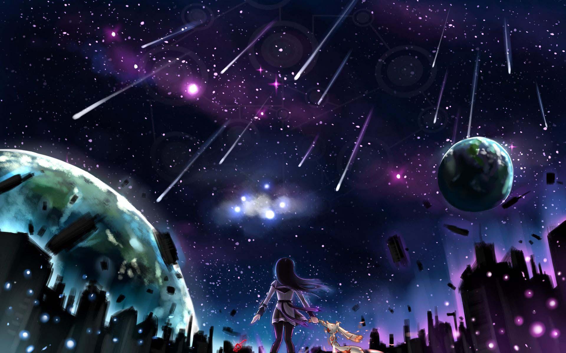 Ảnh anime galaxy lung linh, huyền ảo