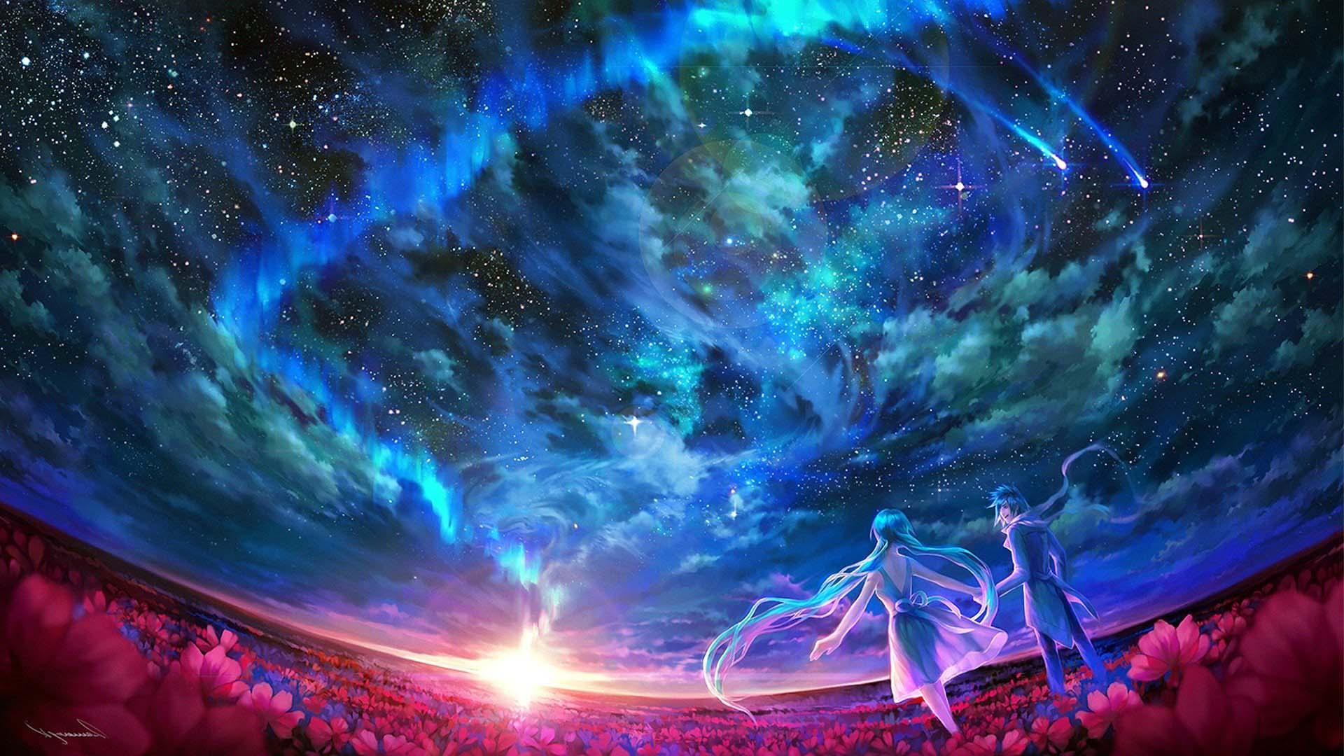 Ảnh anime galaxy phong cảnh đẹp nhất