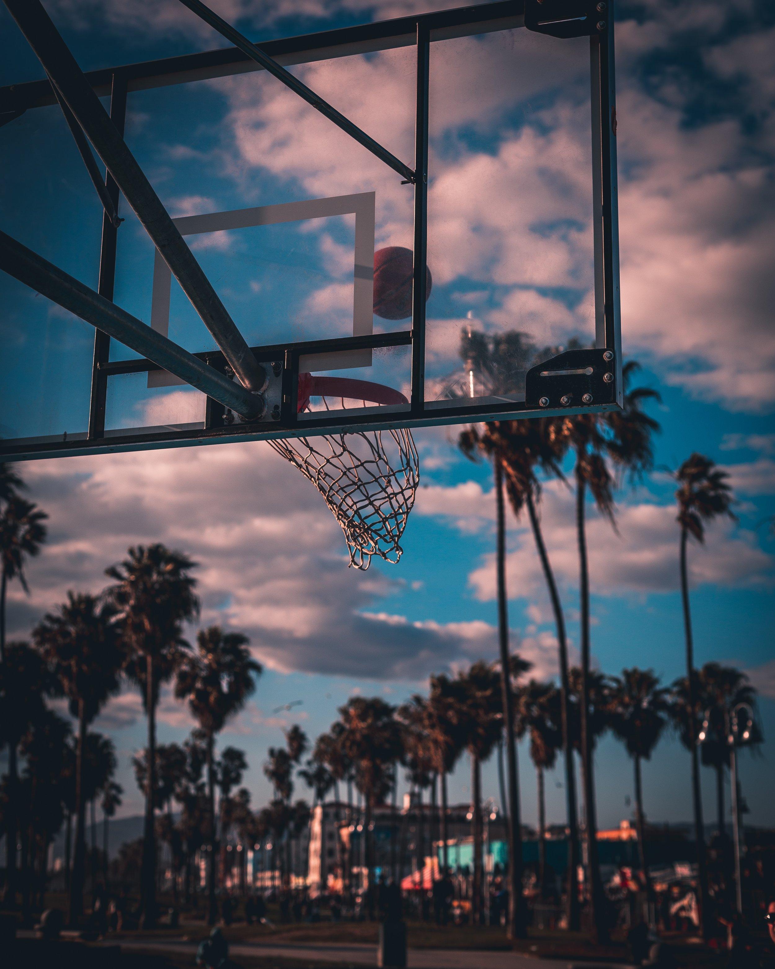 Ảnh bóng rổ nghệ thuật