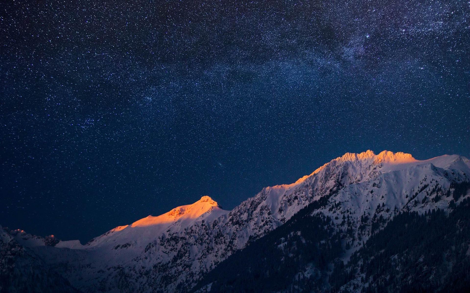 Beautiful night scenery Galaxy HD