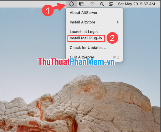 Chọn Install Mail Plug-in