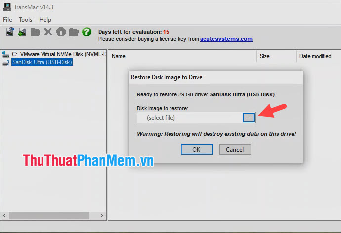 Click vào biểu tượng […] để mở thư mục chứa file cài đặt macOS