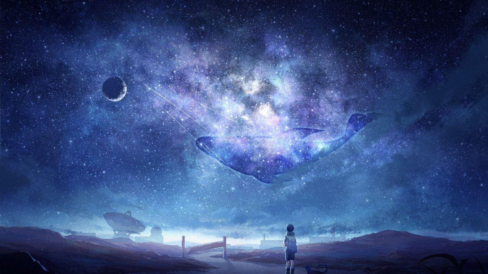Hình ảnh anime galaxy huyền ảo, đẹp nhất