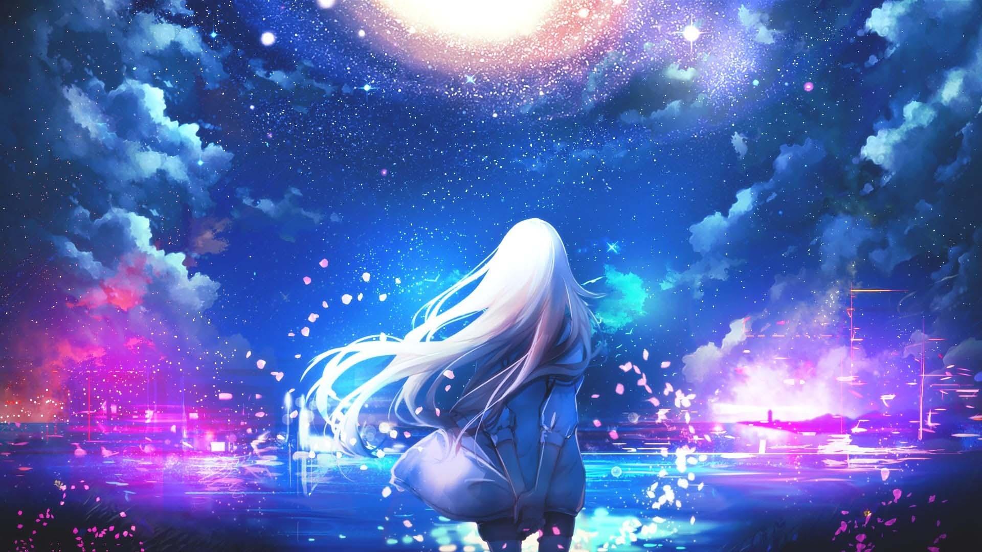 Hình anime galaxy cực đẹp