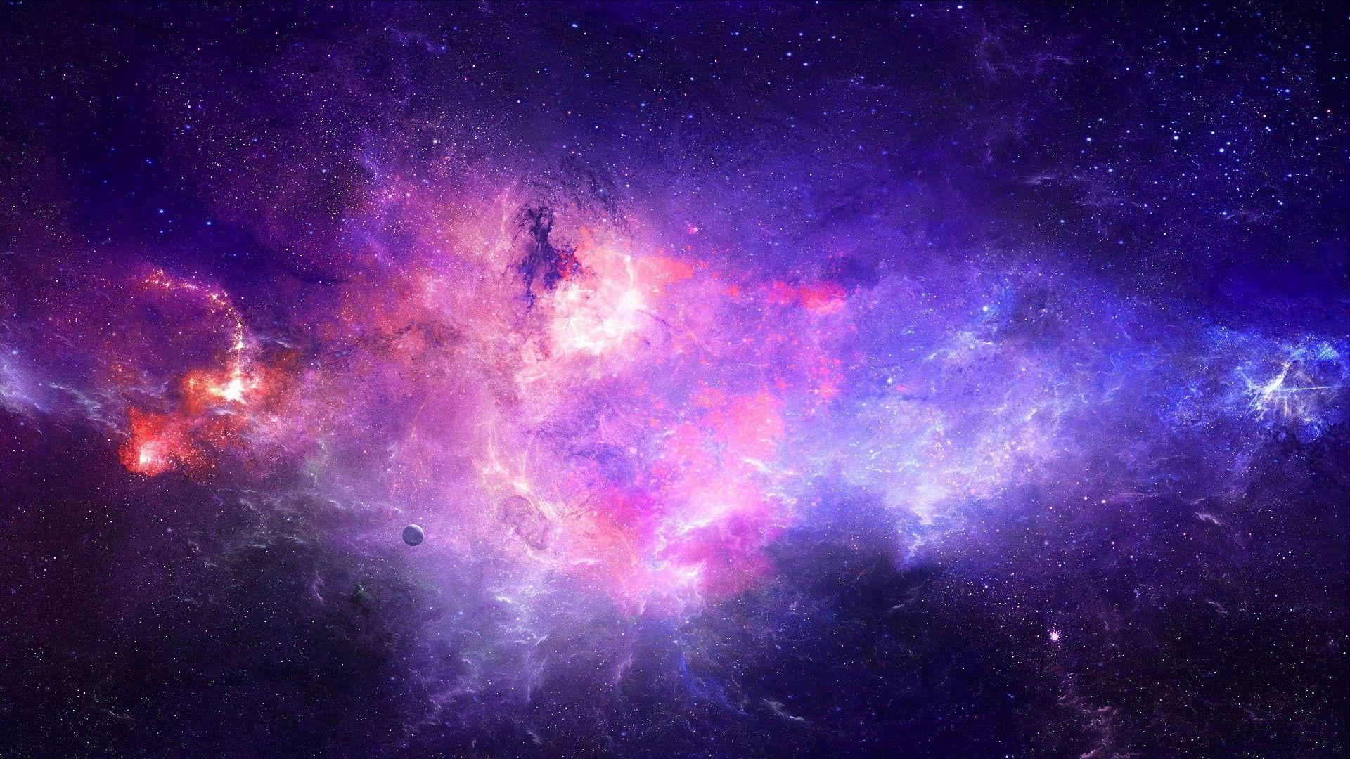 Hình galaxy vũ trụ đẹp cho máy tính