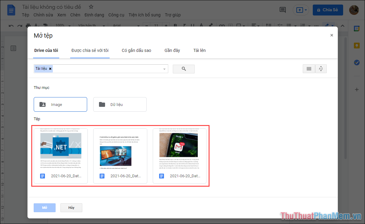 Bạn có thể chọn các tài liệu đã được chuyển đổi trên màn hình để xử lý chúng