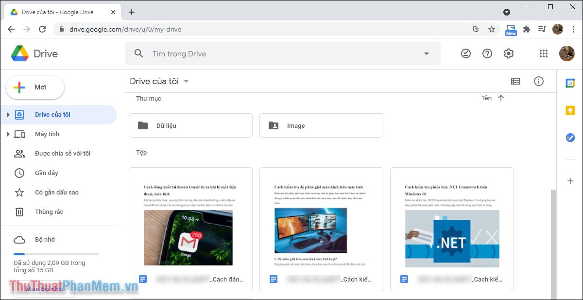 Các tài liệu Word đã tự động được chuyển đổi sang Google Docs thành công