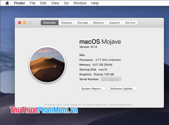 Tạo Apple ID trên macOS (yêu cầu macOS 10.15 trở xuống)