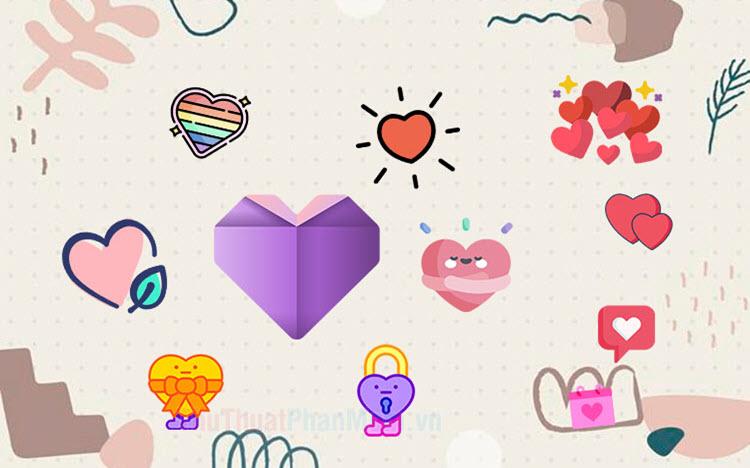 Tổng hợp icon trái tim đẹp