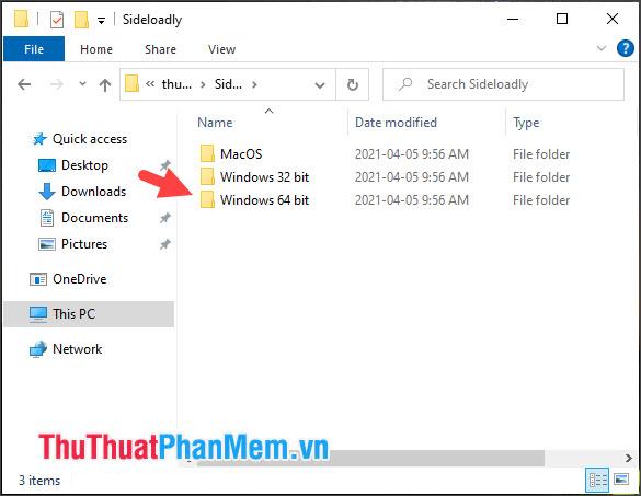 Mở thư mục tương ứng với hệ điều hành như MacOS, Windows 32 bit và Windows 64 bit
