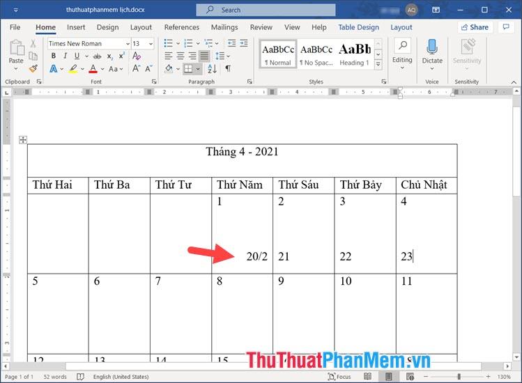 Căn chỉnh bằng cách sử dụng tab hoặc phím cách
