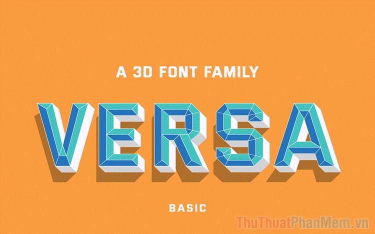 Bộ font chữ 3D tuyệt đẹp