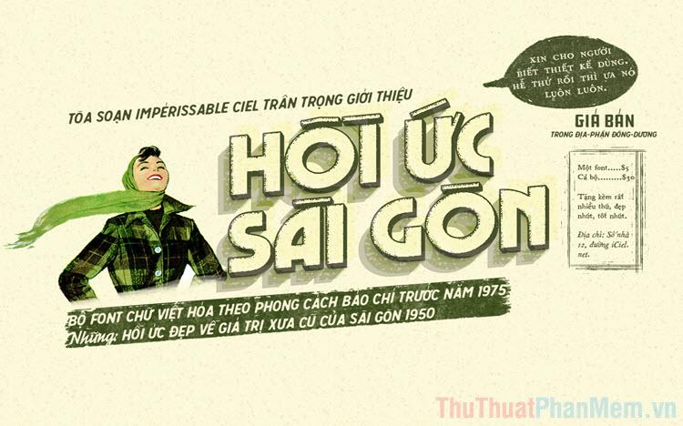 Bộ Font chữ Sài Gòn xưa đã được Việt hoá