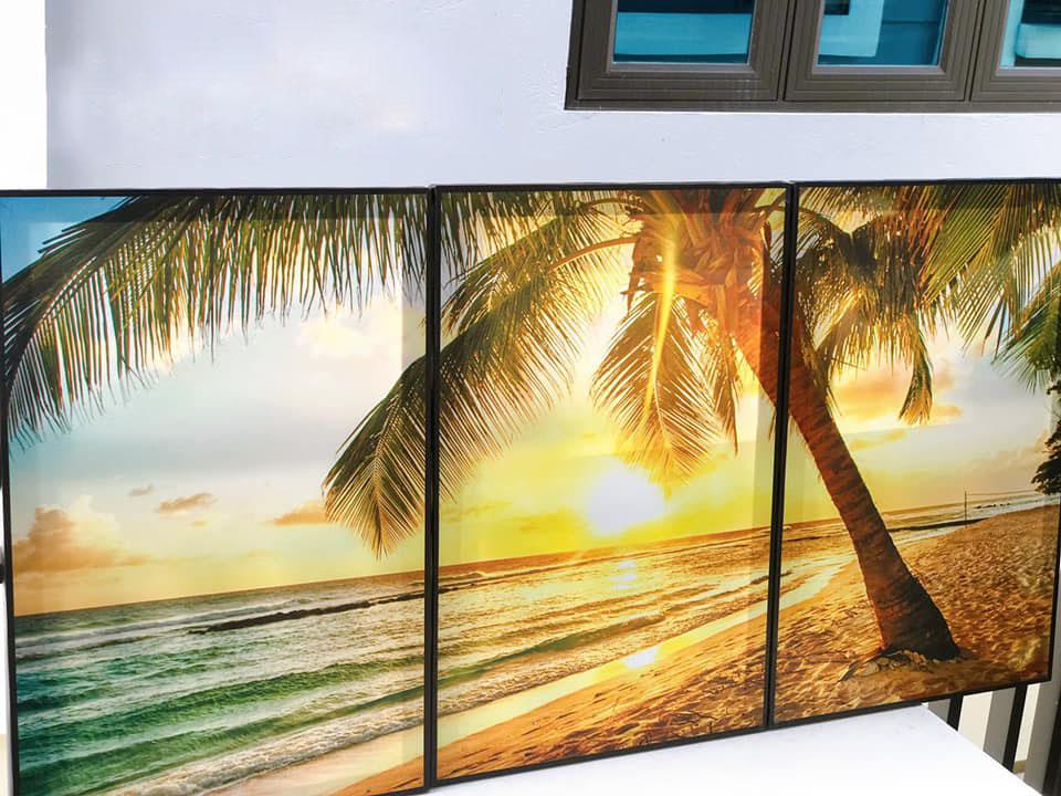 Hình ảnh tranh canvas bãi biển