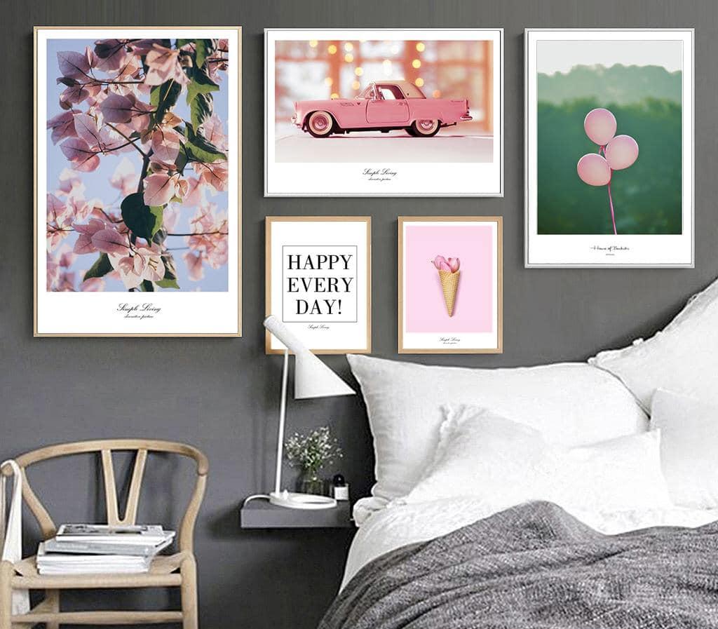 Hình ảnh tranh canvas phòng ngủ