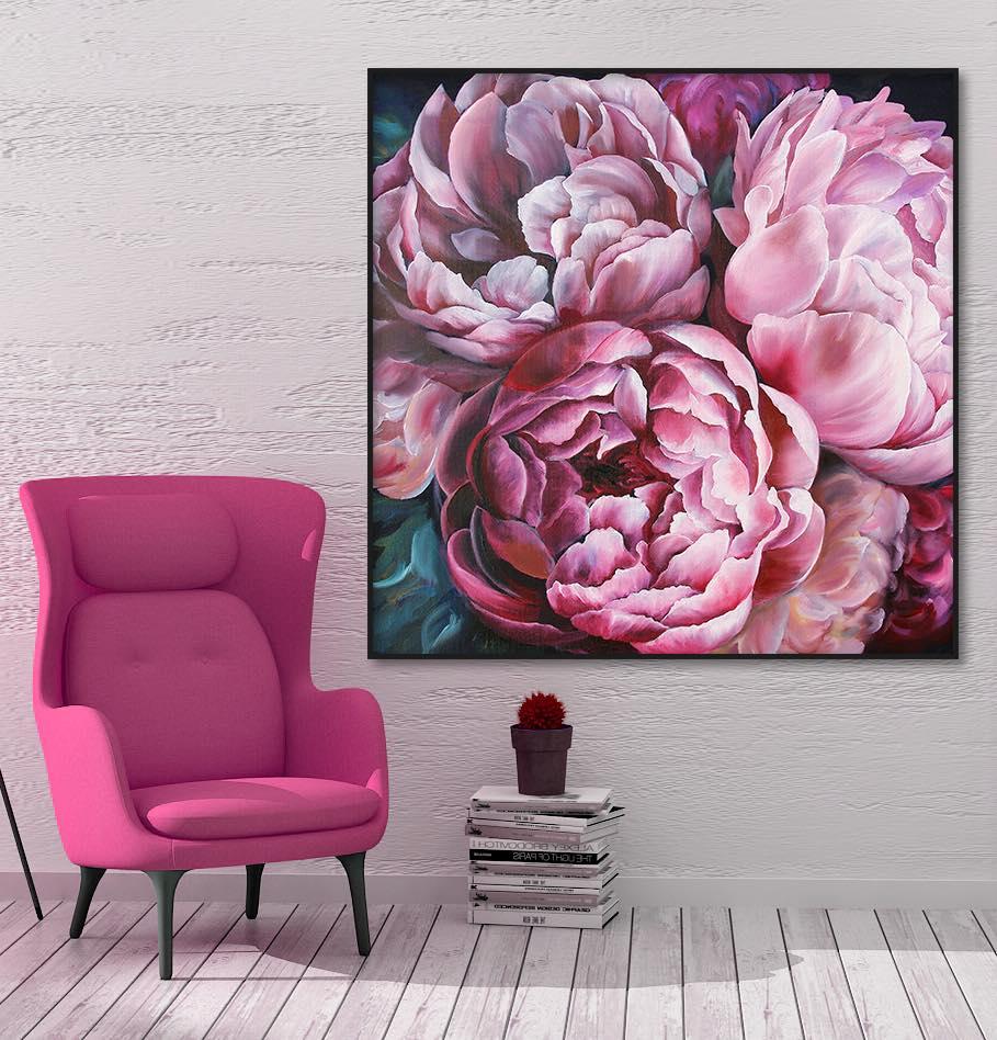 Mẫu tranh canvas hoa