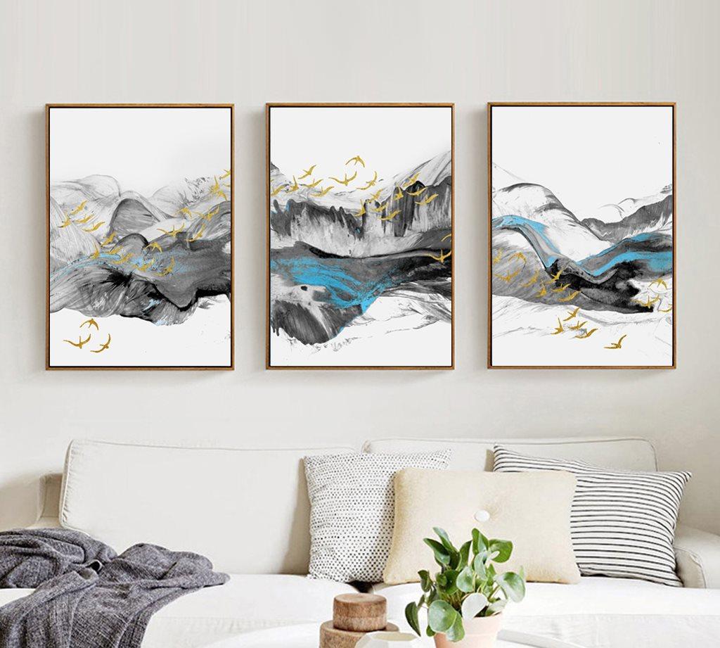 Mẫu tranh canvas núi non
