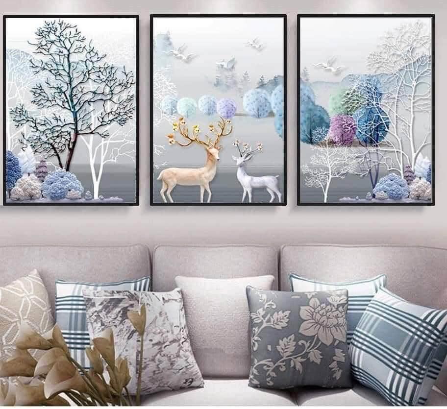 Mẫu tranh canvas trang trí phòng khách