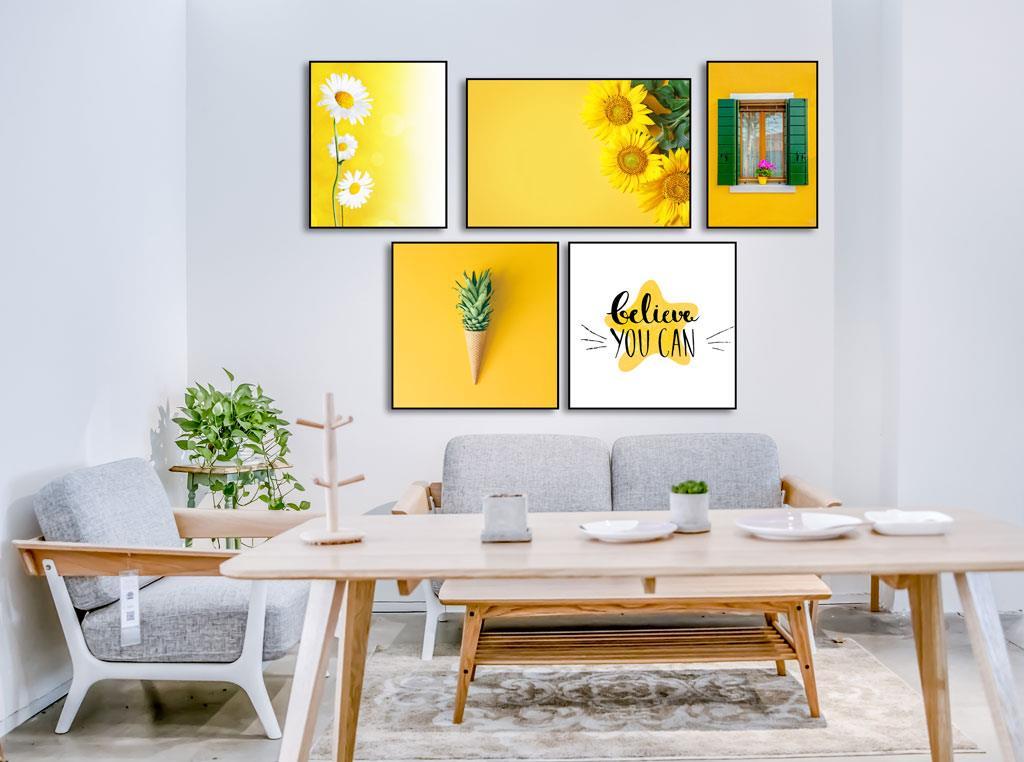 Mẫu tranh canvas văn phòng