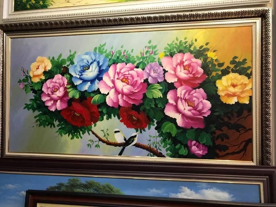 Tranh treo tường khổ ngang đoá hoa hồng
