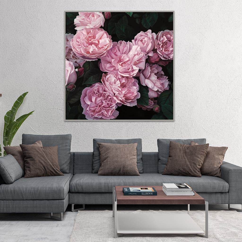 Tranh treo tường khổ ngang hoa hồng