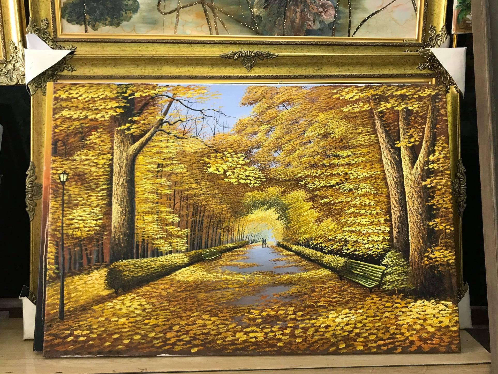 Tranh treo tường khổ ngang mùa thu