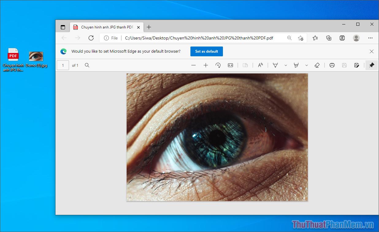 Hoàn tất việc chuyển đổi hình ảnh thành file PDF trực tiếp trên máy tính