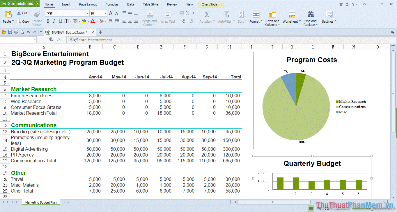 WPS Office Spreadsheets