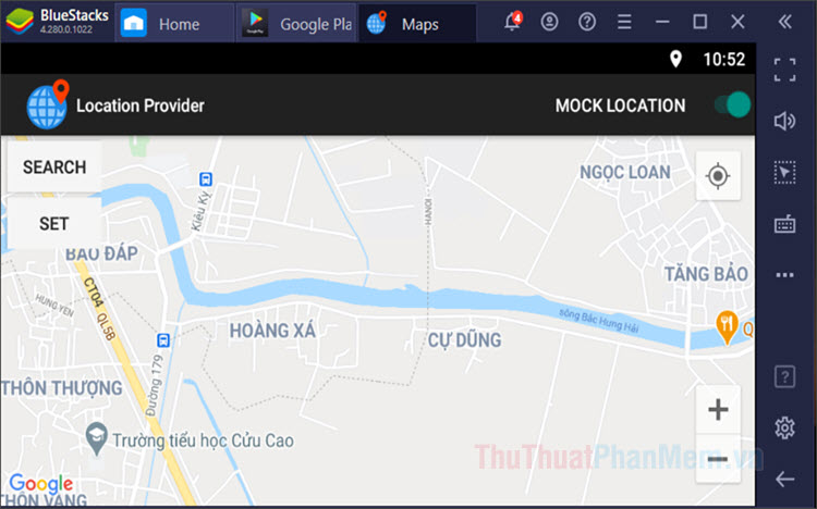 Cách Fake GPS trên BlueStacks