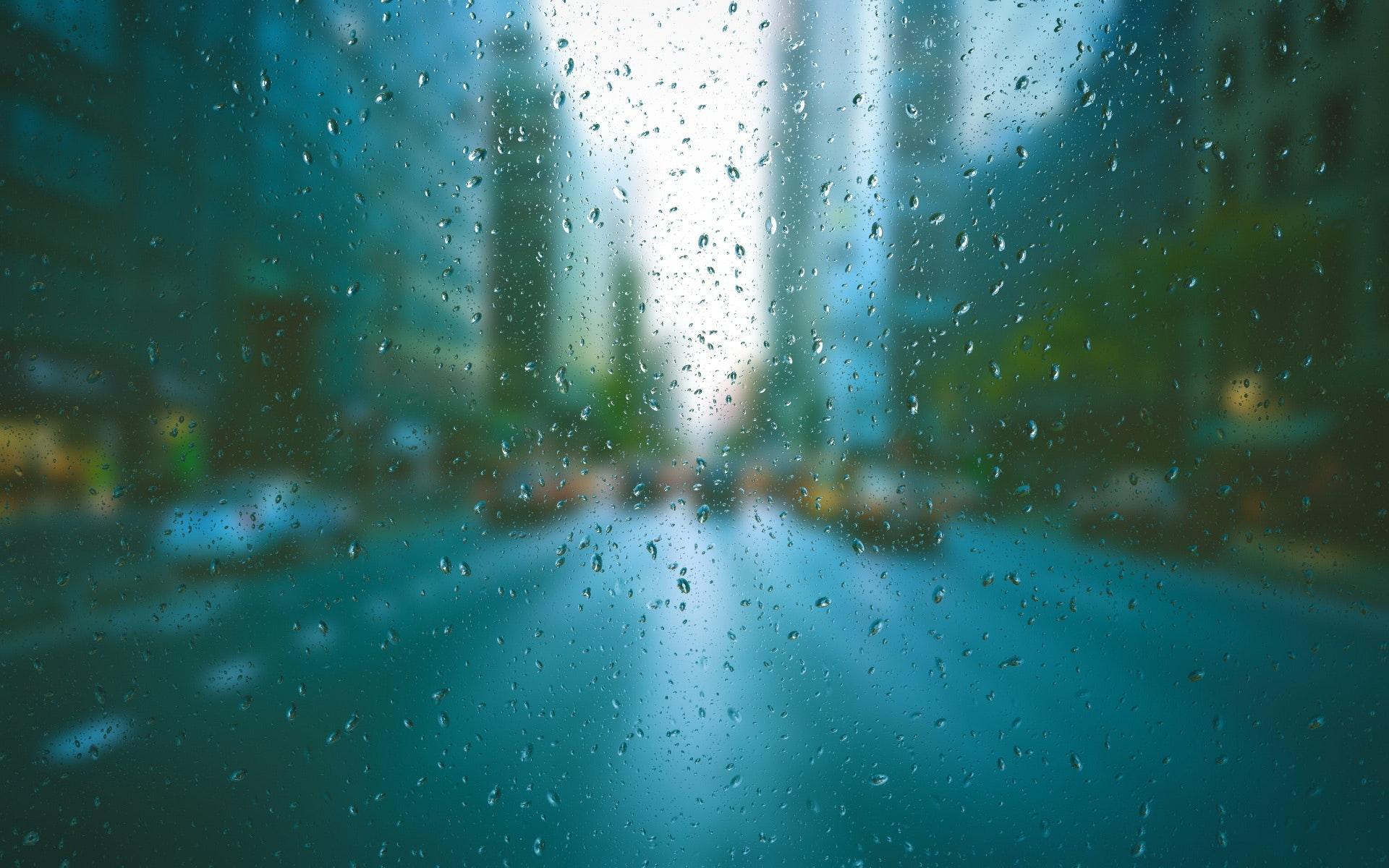 Background con đường mưa