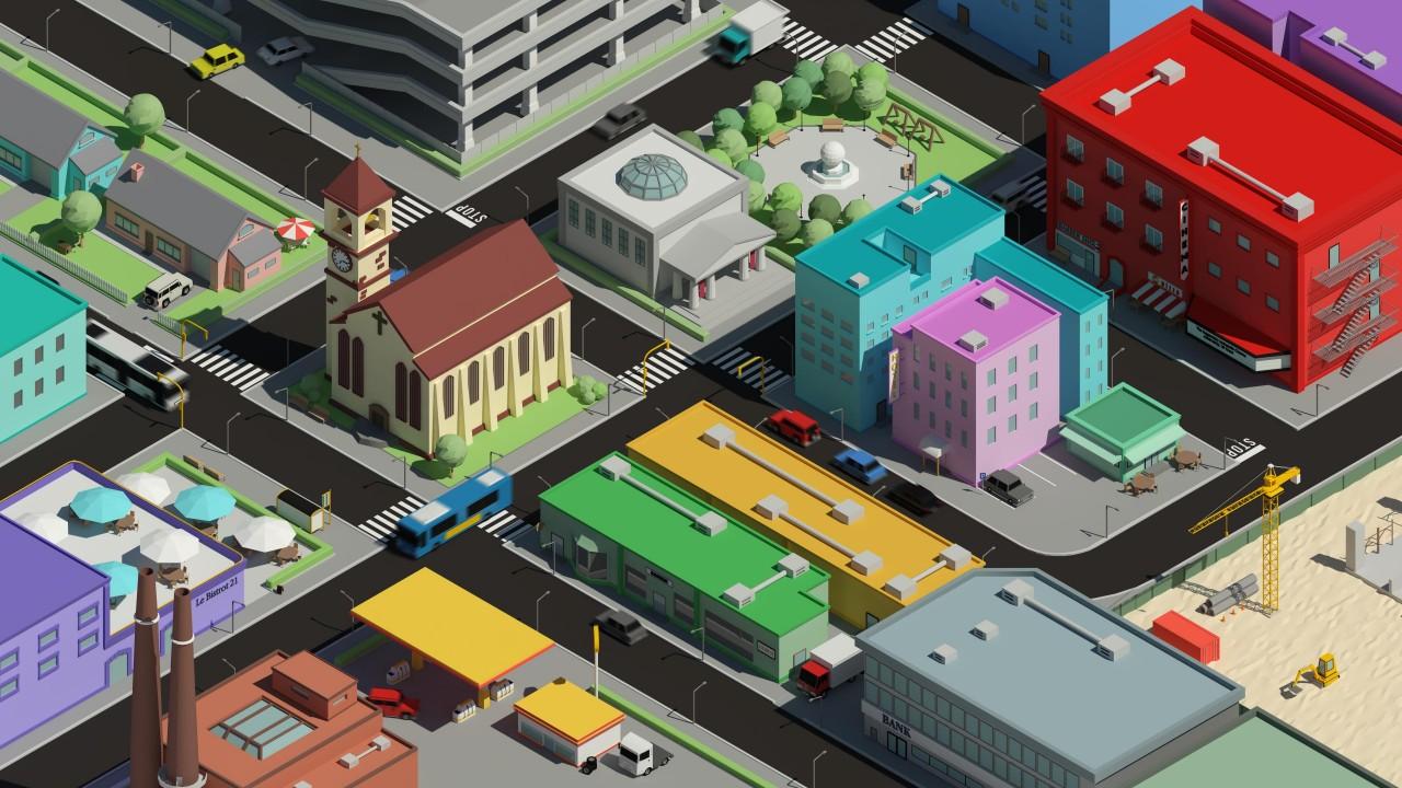Ảnh nền thành phố 3D HD