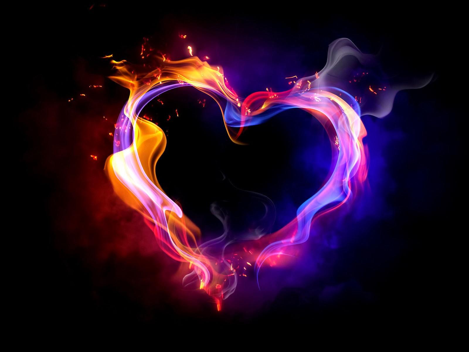 Ảnh nền trái tim 3D