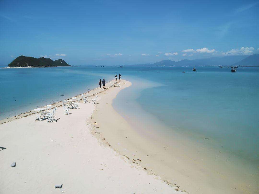 Hình ảnh đường đi trên đảo Điệp Sơn